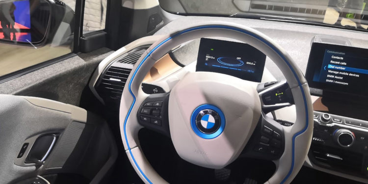 BMW i3s inside