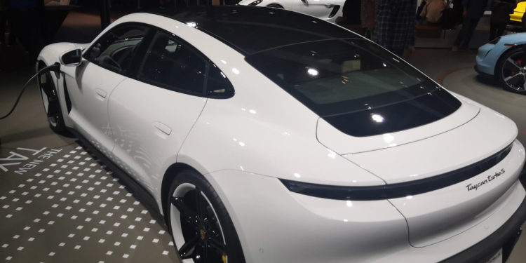 Porsche Taycan Turbo S white