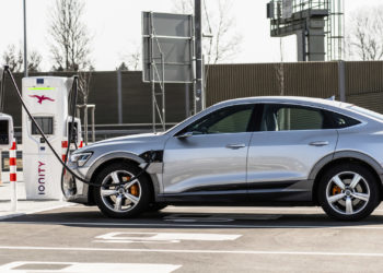 The Audi e-tron supports Ionity's 350kW charging network.