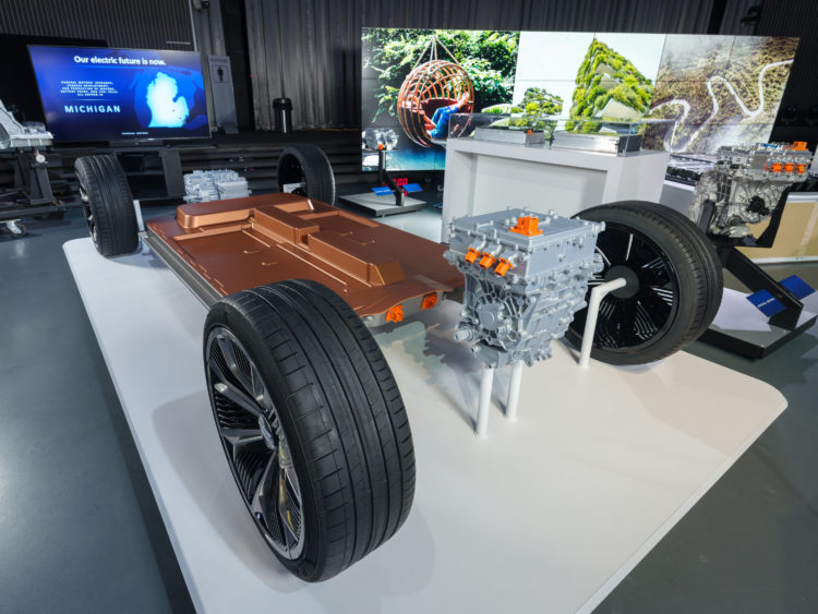 General Motors reveals its all-new modular platform and battery system, Ultium, Wednesday, March 4, 2020 at the Design Dome on the GM Tech Center campus in Warren, Michigan. (Photo by Steve Fecht for General Motors)