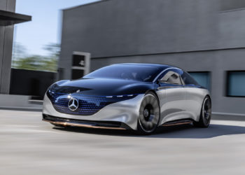 Mercedes-Benz VSION EQS, IAA 2019, der VISION EQS zeigt  einen Ausblick auf ein Konzept eines vollelektrischen Fahrzeugs der Luxusklasse. // Mercedes-Benz VISION EQS, IAA 2019, the VISION EQS provides an outlook on a concept for a fully-electric vehicle in the luxury class.