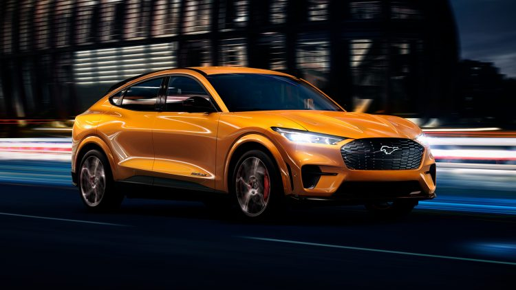 Ford is introducing Cyber Orange Metallic Tri-Coat for Mustang Mach-E GT – a bold, eye-catching premium exterior color designed by the company's color and materials experts for those who want to turn heads twice.