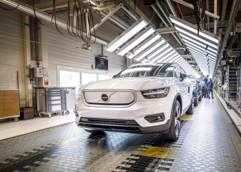 Volvo XC40 Recharge production in Ghent, Belgium