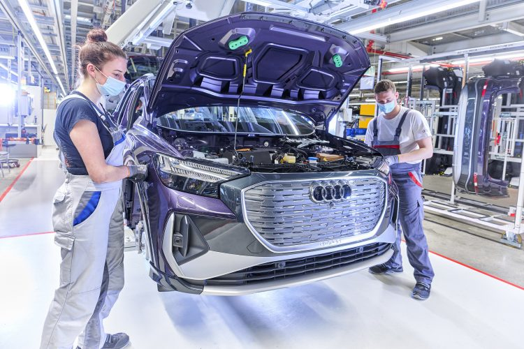 Production of the new Audi Q4 at VW's Saxony plant